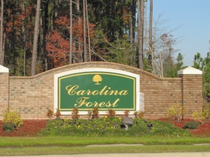Carolina Forest in Jacksonville NC front entrance.